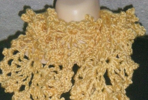 Scarves, Scarf, Ruffly Scarf , Womens Fashions, Girls Fashions, Accessories, Yellow, Crochet, Women, Girls