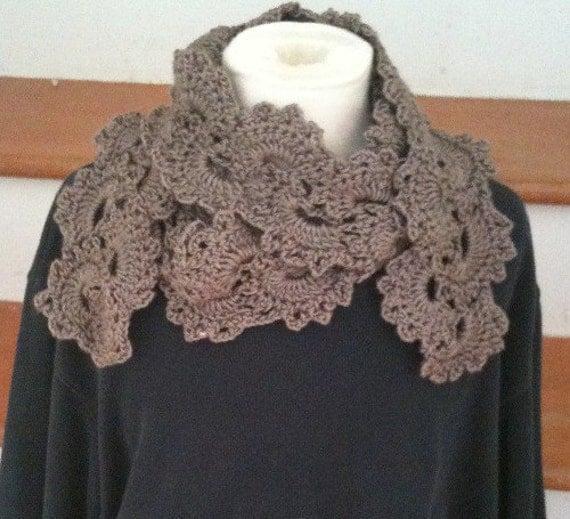 Free Crochet Pattern Queen Anne Lace Scarf : Scarf Queen Anne Lace Scarf Scarves Crochet Womens