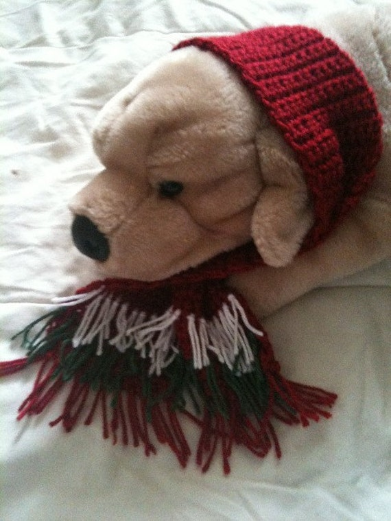 Christmas Doggy Scarf 3 inches wide by 18 inches long