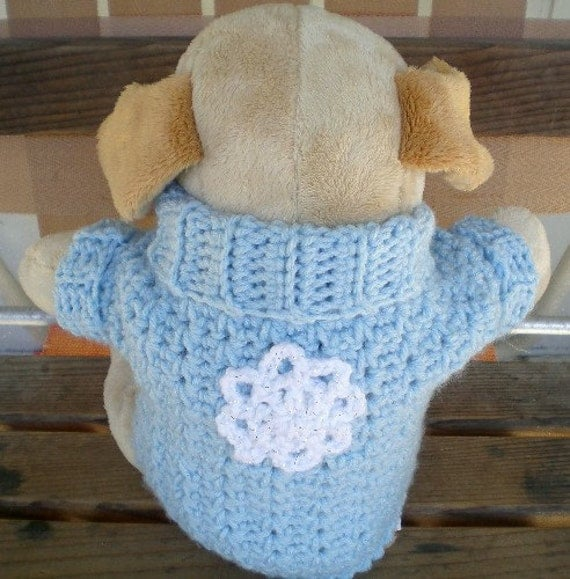 Dogs, Dog Sweaters, Sweaters, Pets, Animal Lovers, Small Dog Fashions, Dog clothing, Crochet, Blue, White