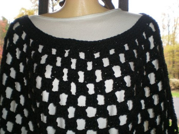 Poncho, Ponchos, Crochet, Plus Sizes,Round Neck ,Womens Fashions