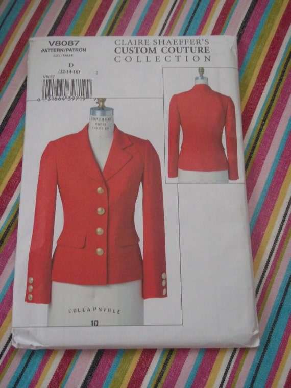 New Vogue 8087 Blazer Jacket pattern Claire Schaffers Custom Couture Collection