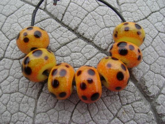 CHEETAH Lampwork Beads by Cherie SRA R114