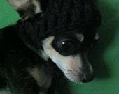 Black XXS Chihuahua Beanie