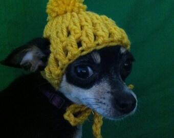 Mustard XXS Chihuahua Beanie
