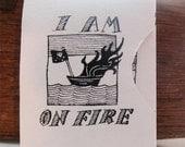 I Am On Fire: Mini Accordion Art Book