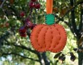 Classic Felt Pumpkin Ornament