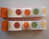 Fall Dots Hair Clips