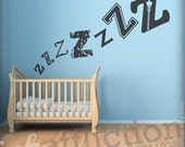 ZZZ Sleeping Babe Wall Decal -  LARGE (FREE shipping)