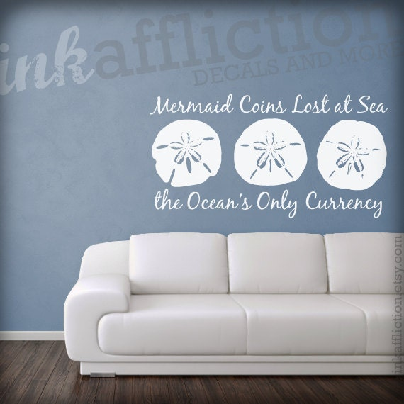 Items similar to sand dollar quote wall decal large 36 x for Inspiring dollar tree wall decals