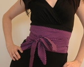 Tie Up Waist Cincher Purple and White Dots size X-small - medium SALE ITEM