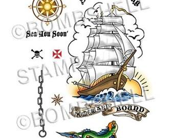 Homeward Bound Rubber Stamp Set
