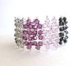 Color Block Bracelet Tutorial TWR073