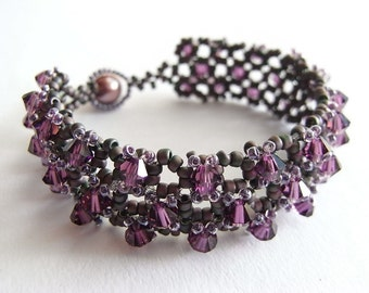 Embellished RAW Bracelet Tutorial TWR023
