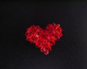 Beaded Heart Charm Tutorial TWR032