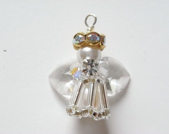 Beaded Angel Charm Tutorial TWR016