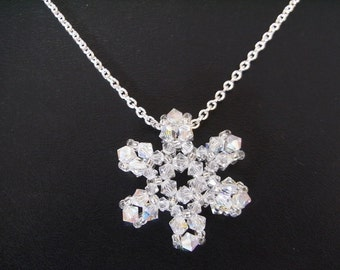 Beaded  Snowflake Charm V2 Tutorial TWR025