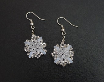Snowflake Earrings Tutorial TWR059