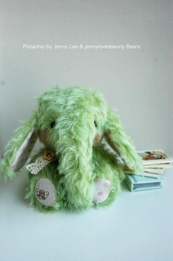 PISTACHIO baby elephant pattern kit - by bear artist Jenny Lee of Jennylovesbenny bears COMPLETE KIT