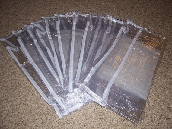 clear vinyl zippered bags one dozen