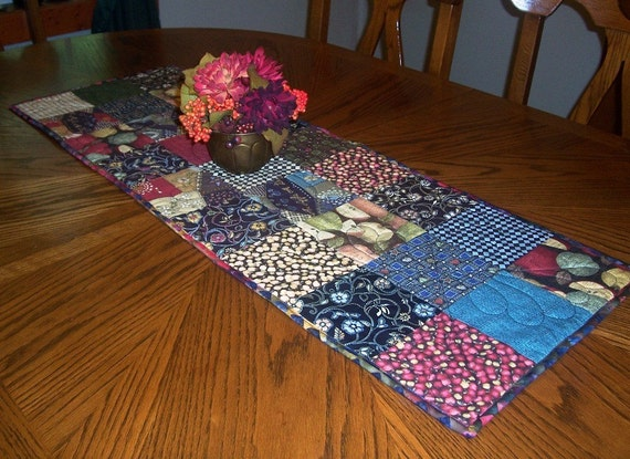 patchwork table runner  14x40