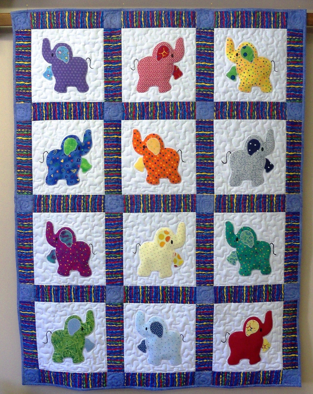 Elephant Treasures Handmade Quilt