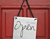 Open \/ Closed Metal Sign