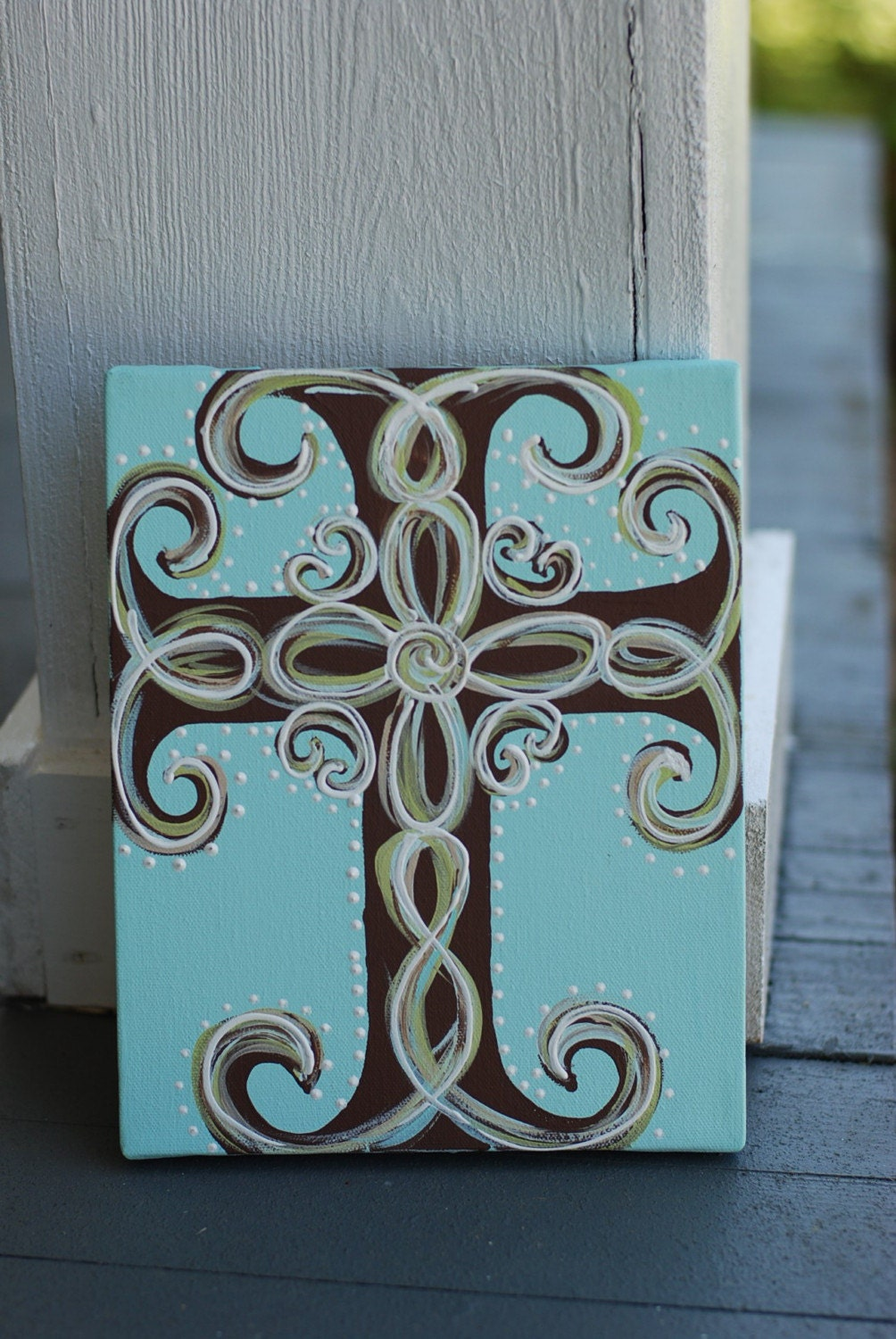 Hand painted cross canvas for Cross paintings on canvas