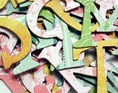 Two Scoops CHIPBOARD Alphabet LETTERS numbers 50 PCS