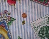 Joan Kessler striped gardening fabric for Concord over 4 YDS