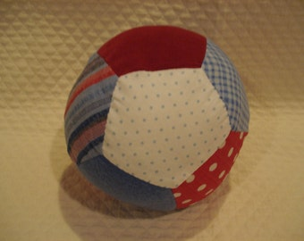 Red, White and Blue Fabric Ball