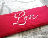 Valentine Gift  Lavender and Flaxseed Eye Pillow Hand Embroidered by Dolce Dreams