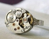 Steampunk Ring, Seiko 11A Movement.  (B7) This is last year's stock CLEARANCE