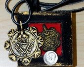 Reliquary Shrine Box . square . large 7 ARCHANGELS . amulet . talisman . Anting Anting . agimat. Philippines FREE SHIP