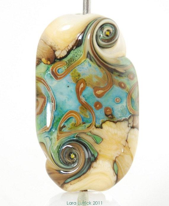Handmade Lampwork Glass Focal Bead by Lara - Elf Path 2