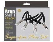 BeadSmith 4 Piece Beading Pliers Tools Tool Set 44171