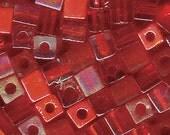 Miyuki 4mm Glass Cube Bead Mix Red Medley 10 Grams 915271