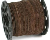 3mm Real Suede Lace Cord String (By the Yard) MEDIUM BROWN 42953