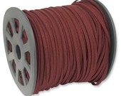 BURGUNDY Faux Leather Suede Necklace Cord 10 Feet Ultra Microfiber 42790