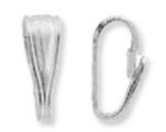 Small Locket Pendant Bail Sterling Silver  (10) 38023-10