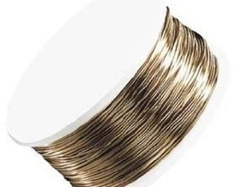 Artistic Wire Beading 26 gauge NON-TARNISH BRASS Wrap 30 yds 90ft 42088