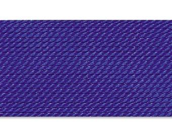 Griffin Silk Cord Thread Size 2 - DARK BLUE with Needle (2) 42210