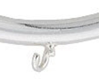 1 Curved Tube Bead W Ring 2.8 x 15mm Sterling Silver 31036