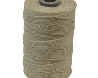 Irish Waxed Linen Thread Crawford Cord 4 Ply 1 Spool (100 Yards) NATURAL 420014