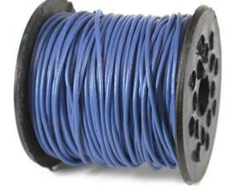 Genuine LEATHER CORD 1mm Dk BLUE (By the Yard) 42964