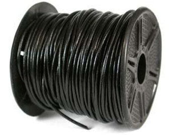 Genuine LEATHER CORD 2mm BLACK (You Pick Length) 42981