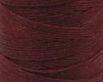 Irish Waxed Linen Crawford Cord 4 Ply 10 Yards COUNTRY RED 420005