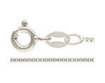 18 Inch Sterling Silver Box Chain .9mm 82002