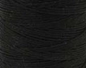 Irish Waxed Linen Crawford Cord 7 Ply 1 Spool (app 165 Yards) BLACK 420399-sp