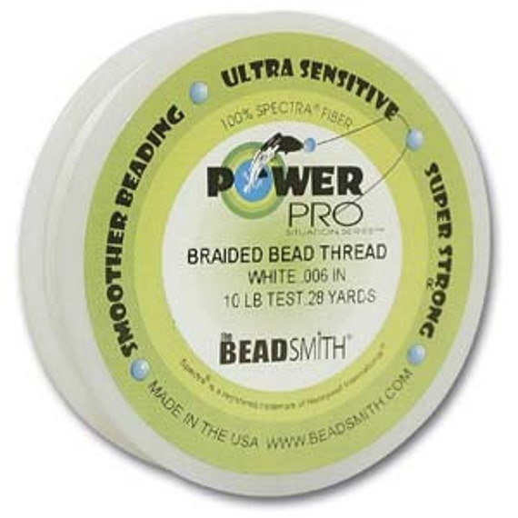 Power Pro Braided Beading Thread .006 In 10lb White 28 Yds 42375